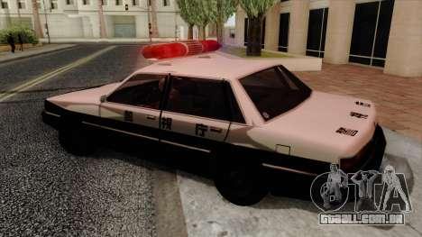 Karin Primo Police para GTA San Andreas esquerda vista