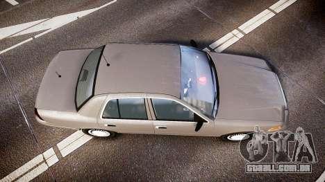 Ford Crown Victoria NYPD Unmarked [ELS] Old para GTA 4 vista direita