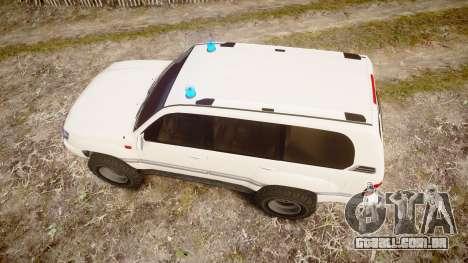 Toyota Land Cruiser 100 UEP [ELS] para GTA 4 vista direita
