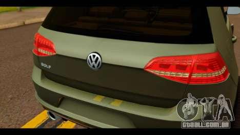 Volkswagen Golf Mk7 2014 para GTA San Andreas vista traseira