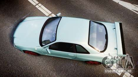 Nissan Skyline R34 GT-R M-Spec Nur para GTA 4 vista direita