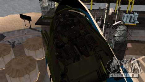 P-39N Airacobra JASDF Blue Impulse para GTA San Andreas vista direita