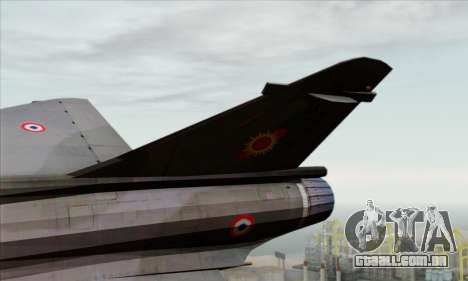 Dassault Mirage 2000-N SAM para GTA San Andreas traseira esquerda vista