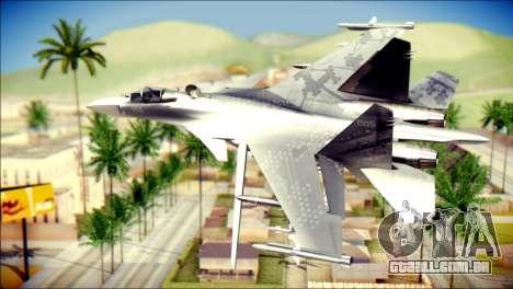 SU-37 Hexagon Madness para GTA San Andreas esquerda vista