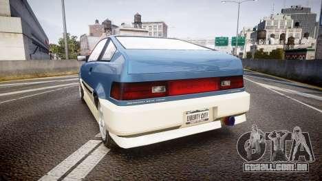 Dinka Blista Compact R para GTA 4 traseira esquerda vista