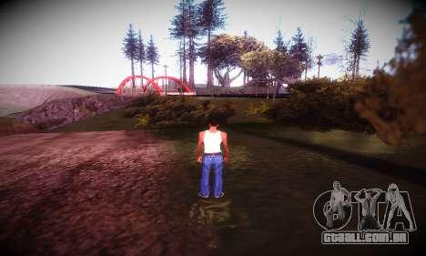 Ebin 7 ENB para GTA San Andreas quinto tela