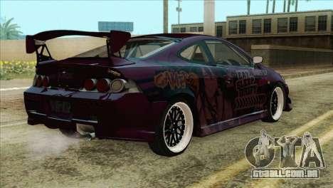 Acura RSX Hinata Itasha para GTA San Andreas esquerda vista