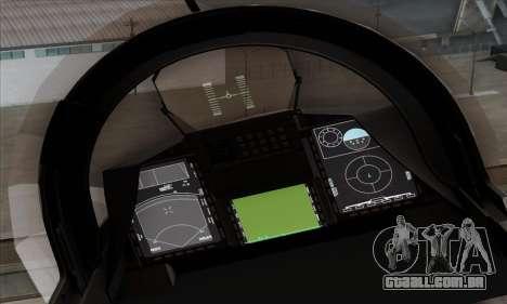 JAS-39 Gripen NG ACAH para GTA San Andreas vista traseira