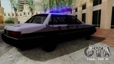 Karin Primo Police para GTA San Andreas vista traseira