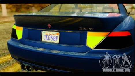 GTA 5 Ubermacht Zion XS para GTA San Andreas vista direita