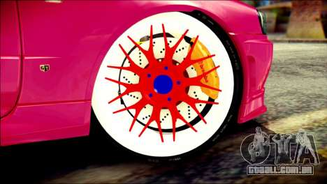 Nissan Skyline GTR V Spec II para GTA San Andreas traseira esquerda vista