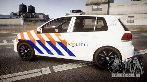 Volkswagen Golf Mk6 Dutch Police [ELS] para GTA 4 esquerda vista