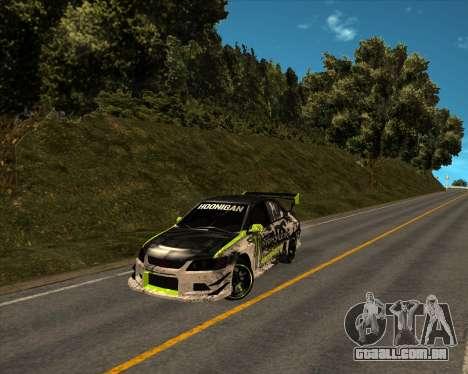 Mitsubishi Lancer Evolution IX Monster Energy DC para GTA San Andreas