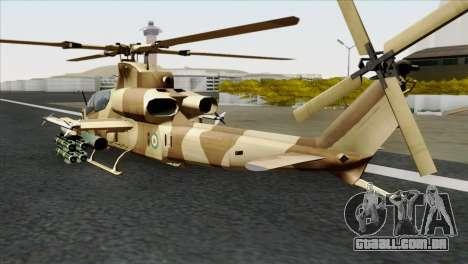 AH-1Z Viper IRIAF para GTA San Andreas esquerda vista