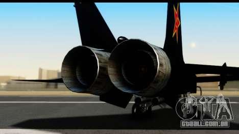 Mikoyan-Gurevich MIG-31 China Air Force para GTA San Andreas vista traseira