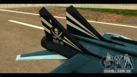 MIG-31 Pirat Squadron para GTA San Andreas traseira esquerda vista