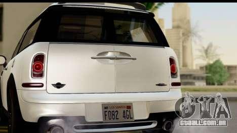 Mini Cooper Clubman 2011 para GTA San Andreas vista direita