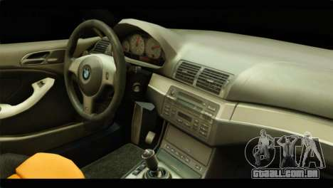 BMW 330 Tuning Red Dragon para GTA San Andreas vista traseira
