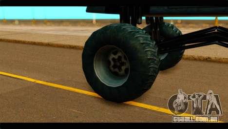 Monster Buffalo para GTA San Andreas traseira esquerda vista