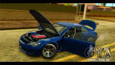 GTA 5 Ubermacht Zion XS para GTA San Andreas vista traseira