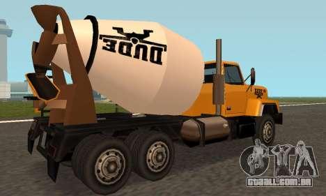 Cement Truck Fixed para GTA San Andreas vista direita