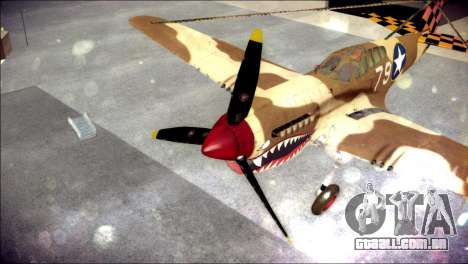 P-40E 325th Fighter Group para GTA San Andreas vista traseira