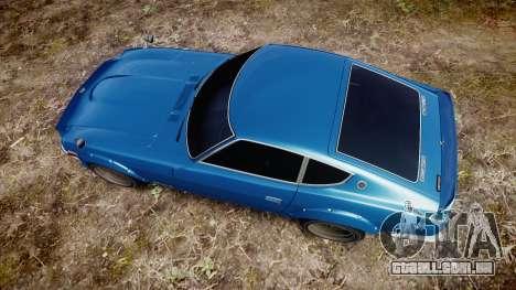 Nissan Fairlady Z (S30) Devil Z para GTA 4 vista direita