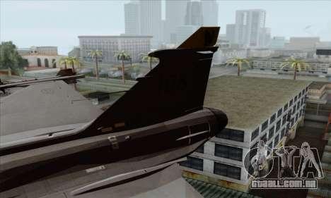 JAS-39 Gripen NG ACAH para GTA San Andreas traseira esquerda vista