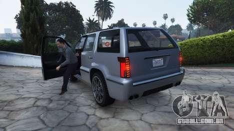 O estilo do GTA 4 para fora do veículo para GTA 5
