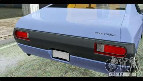 Ford Gran Torino para GTA San Andreas vista traseira