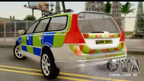 Volvo V70 Kent Police para GTA San Andreas esquerda vista