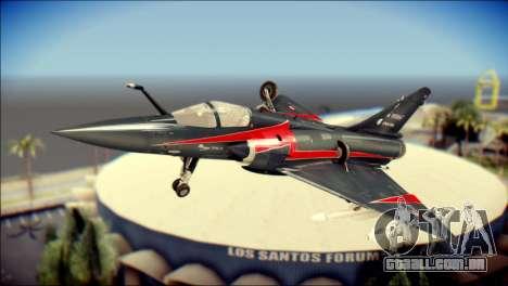 Dassault Mirage 2000-10 Black para GTA San Andreas