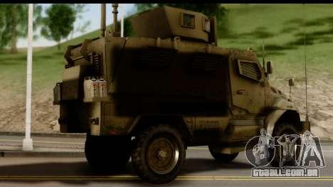 International MaxxPro MRAP para GTA San Andreas esquerda vista