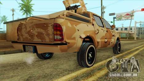 Toyota Hilux Siria Rebels without flag para GTA San Andreas esquerda vista