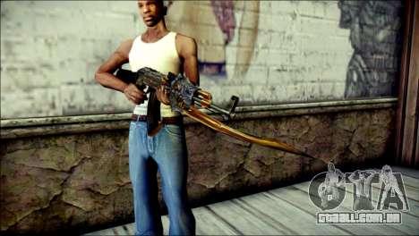 AK-47 Inferno para GTA San Andreas terceira tela