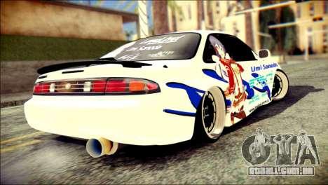 Nissan Silvia S14 Umi Sonoda Paintjob Itasha para GTA San Andreas esquerda vista