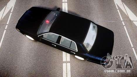 Ford Crown Victoria NYPD Unmarked [ELS] para GTA 4 vista direita