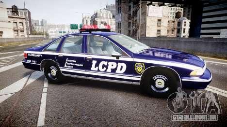 Chevrolet Caprice 1994 LCPD Auxiliary [ELS] para GTA 4 esquerda vista