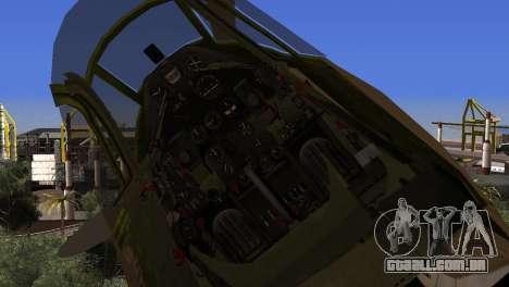 Pokryshkin P-39N Airacobra para GTA San Andreas vista direita