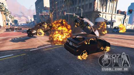 GTA 5 O enfraquecimento do veículo quarto screenshot