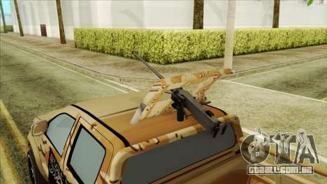 Toyota Hilux Siria Rebels para GTA San Andreas vista direita