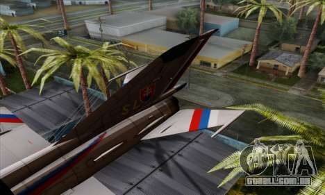 MIG-21MF Slovak Air Force SLP para GTA San Andreas traseira esquerda vista