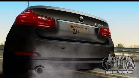 BMW 335i Coupe 2012 para GTA San Andreas vista direita