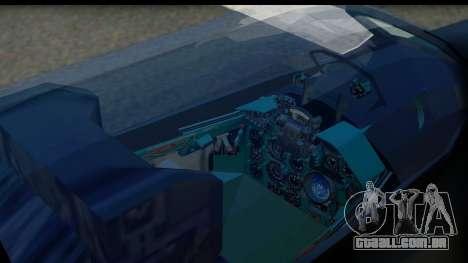 MIG-21F Fishbed B URSS Custom para GTA San Andreas vista traseira