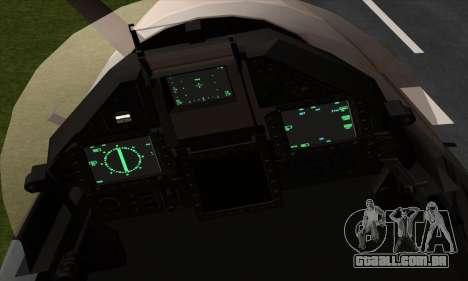 Dassault Mirage 2000-5 ACAH para GTA San Andreas vista traseira