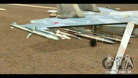 SU-37 Terminator Russian AF Camo para GTA San Andreas vista direita
