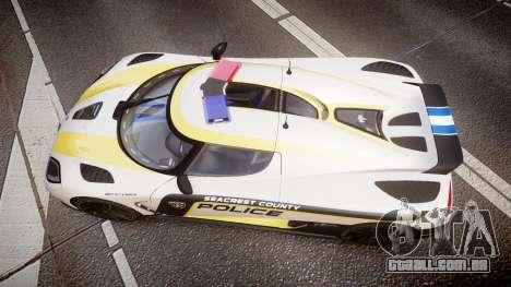 Koenigsegg Agera 2013 Police [EPM] v1.1 PJ1 para GTA 4 vista direita