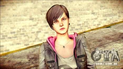 Moira Burton from Resident Evil para GTA San Andreas terceira tela