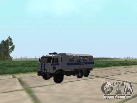 KamAZ-43114 um OMON para GTA San Andreas esquerda vista