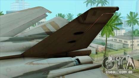 General Dynamics F-111 Aardvark para GTA San Andreas traseira esquerda vista